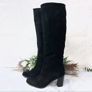 NEW Johnston & Murphy suede heeled knee boots Sz 7